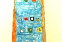 Caso práctico: lo que un niño ve en un smartphone, con un dibujo