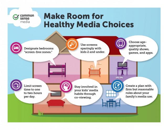 Ilustración con consejos de Common Sense Media, tomada de LiterateForLife.