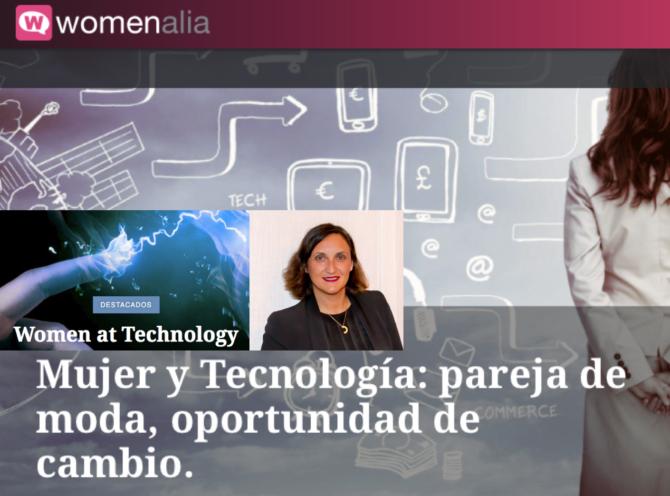 """Te espero en """"Mujer y Tecnología"""", con @womenalia"""