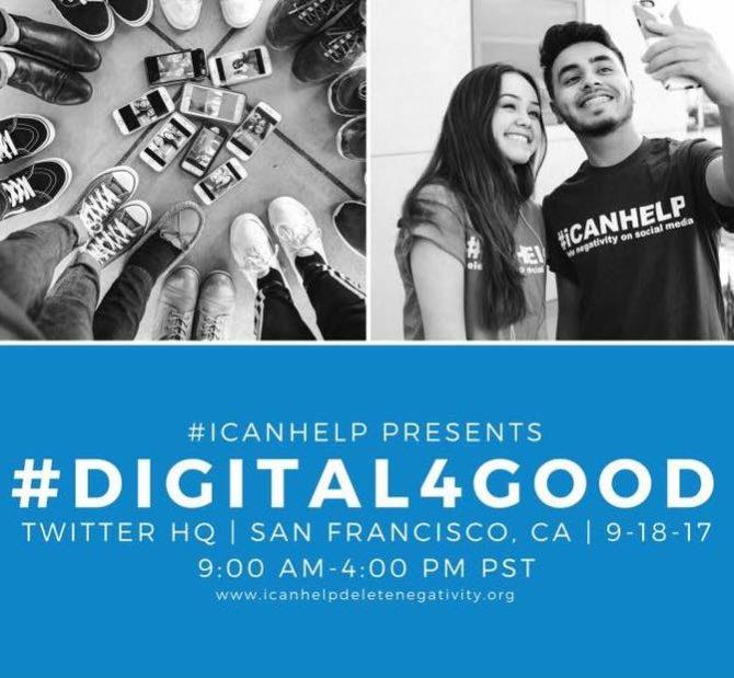 Hoy: #Digital4Good, evento con @Twitter y @icanhelp para potenciar un uso positivo de la Red