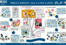 Una ilustración sobre familia y tecnología